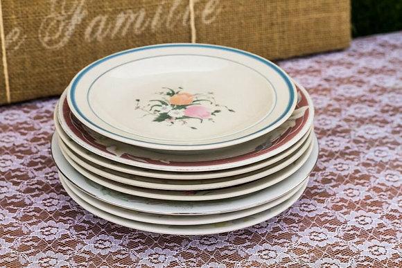 Assorted Vintage Dinner & Dessert Plates