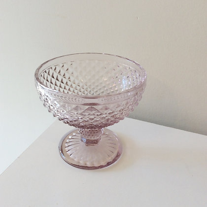 Small Crystal Stem Dish - Blush