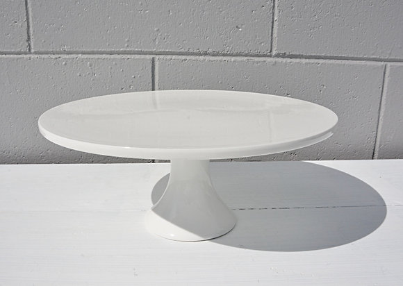 Large Flat White Cake Stand