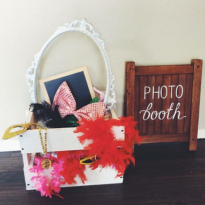Box of Photo Booth Props