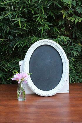 Round Vintage Framed Chalkboard