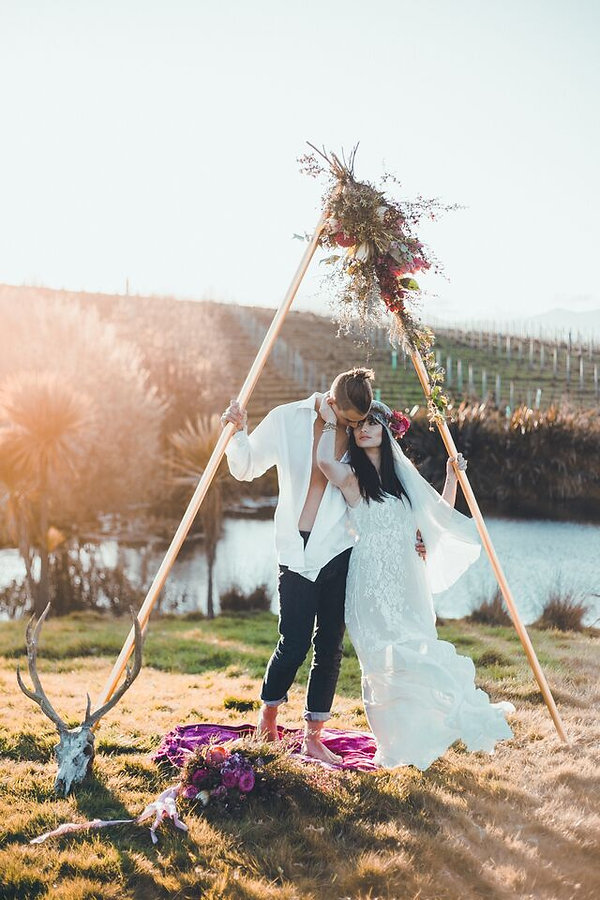 Bride and Groom Styled Image