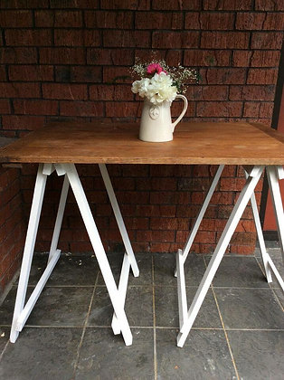 Small Rustic Trestle Table Top