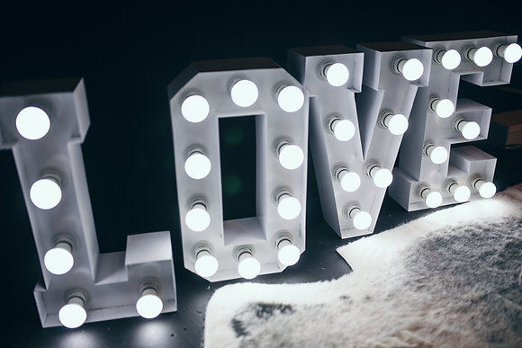 LOVE Marquee Letter Light Set