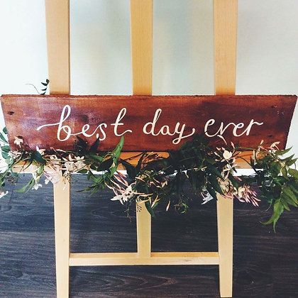 "Woodlands Collection ""Best day ever"""