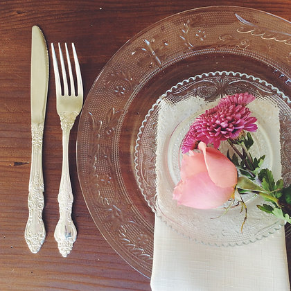 Crystal-style Dinner Plates