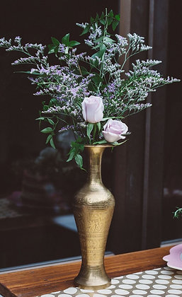 Brass Vases & Candle Stick Holders