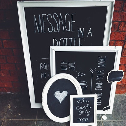 White Framed Chalkboards