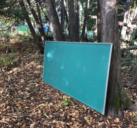 Here is the outdoor chalkboard.
