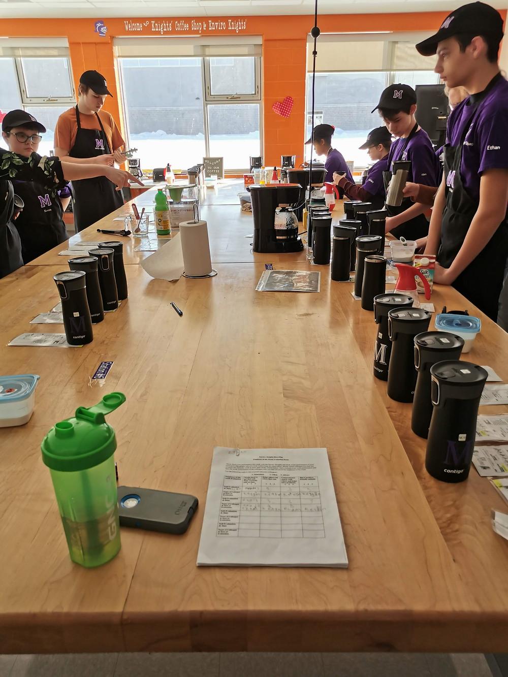 coffee station set up