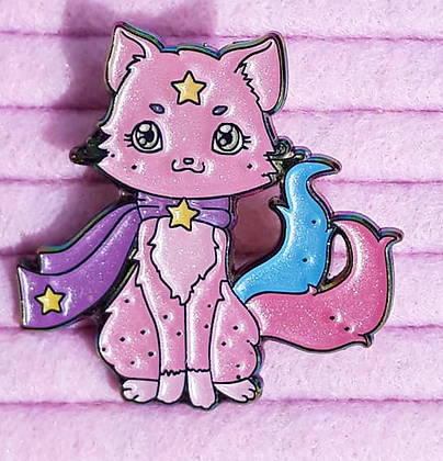 Galacat Pastel Pearly Rainbow Enamel Pin