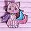 Thumbnail: Galacat Pastel Pearly Rainbow Enamel Pin