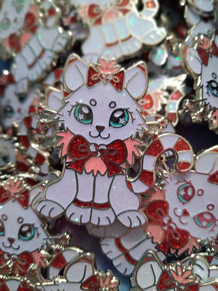 Pawpurrmint Cococat Glitter Enamel Pin