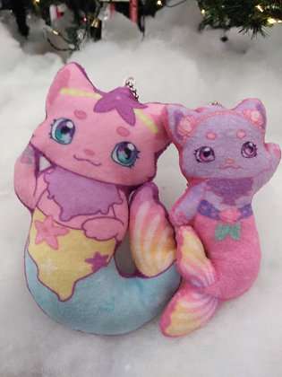 Kaia and Karina Mewmaid Mini Keychain Plush