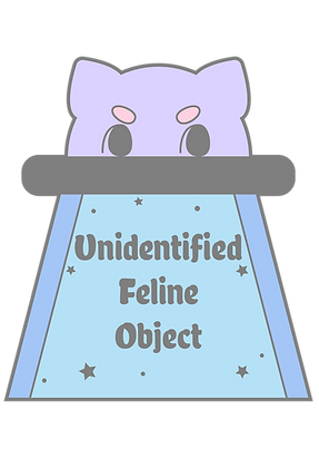 UFO Unidentified Feline Object Sticker