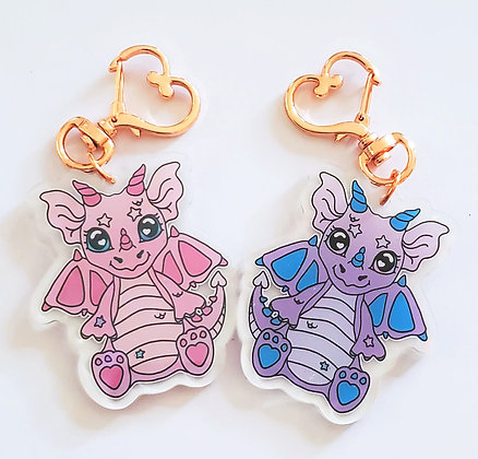 Sugar and Taffy Dual Sided Holographic Acrylic Charm
