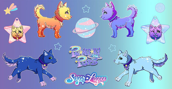 Planetary Pups Sticker Sheet