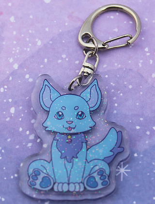 Orion and Calypso Pup Keychain