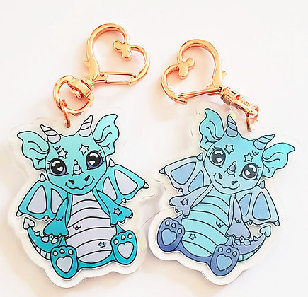 Minty and Lolli Dual Sided Holographic Acrylic Charm