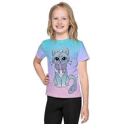 Moonacat Moon Kitty Pastel Galaxy All Over T-shirt