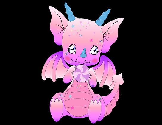 Sugar the Baby Dragon Keychain