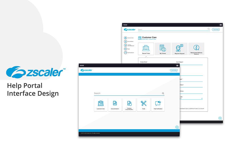 Zscaler help portal design