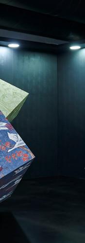 Detalhes da instalação Muse Wallpapers durante o BOOMSPDESIGN