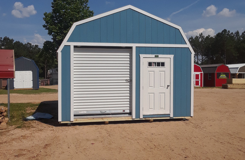 Custom Lofted Garage
