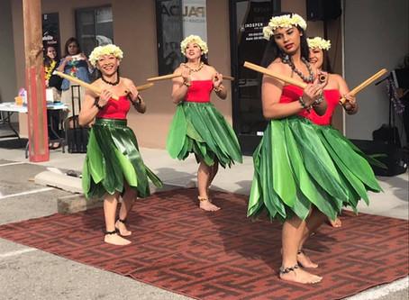 Santa Fe Chamber of Commerce Hawaiian luau party