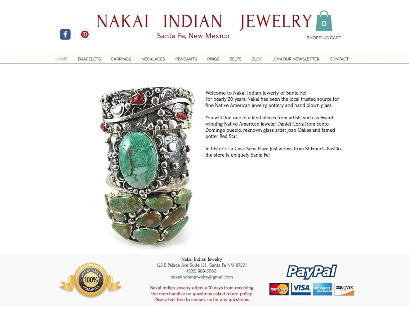 Nakai Indian Jewelry | Santa Fe