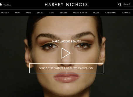 HARVEY NICHOLS, MARC JACOBS MAKEUP TUTORIAL INTERACTIVE VIDEO