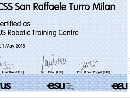 San Raffaele Turro: Centro Ufficiale Certificato ERUS per training in chirurgia robotica