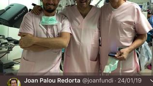 Chirurgia in diretta con Prof. Wiklund (Università Karolinska, Stoccolma, SWE) e Prof. Palou (Fundac