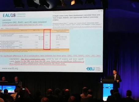 Relazione al Convegno Europeo di Urologia EAU18 Copenaghen (Danimarca) 03.2018