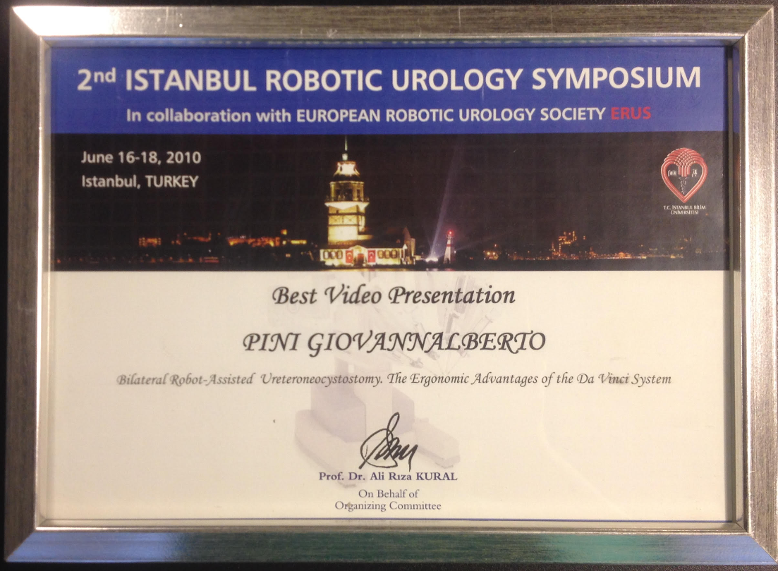 1° premio Convegno Robotica Turchia