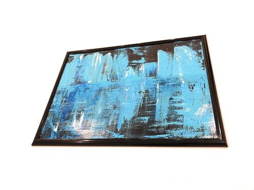 Nighttime Abstract Blue Artwork