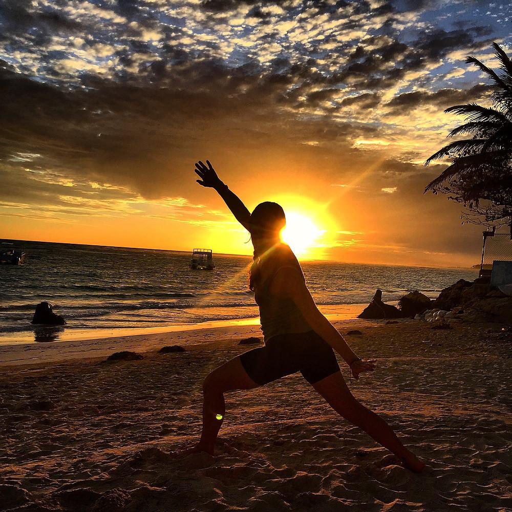 Practicing Qigong in Punta Cana