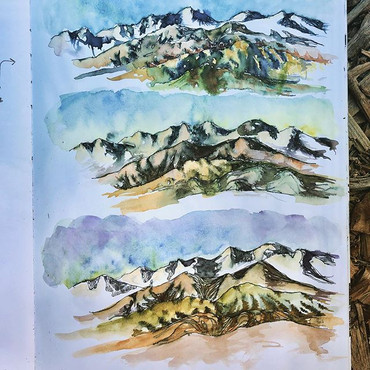 A sketch from a trip to Death Valley