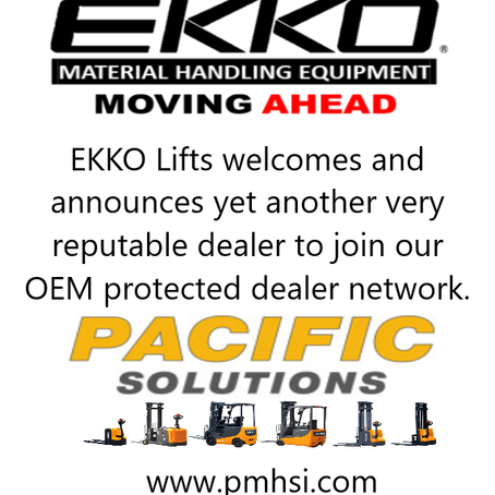 Pacific material handling solutions joins ekko lifts network