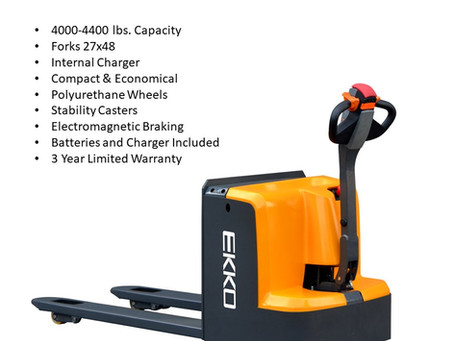 EKKO Lifts ep20d & ep18d electric pallet jack