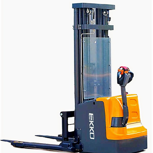 "EKKO EB18E Full Powered Straddle Stacker 4000 lb Cap., 138"" Height"