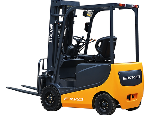 "EKKO EK20R 4 Wheel Electric Forklift, 4500 lb Cap., 216"" Lift Ht. 48V"