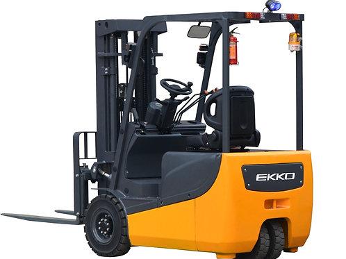 """EKKO EK18AH 3 Wheel Electric Forklift, 4000 lb. Cap., 216"""" Lift Ht. 48V"""