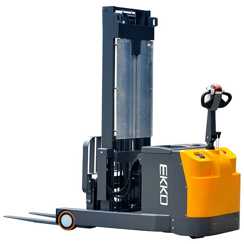 "EKKO EH15TH Moving Mast Walkie Reach Truck 3300 lb Cap., 216"" Height"