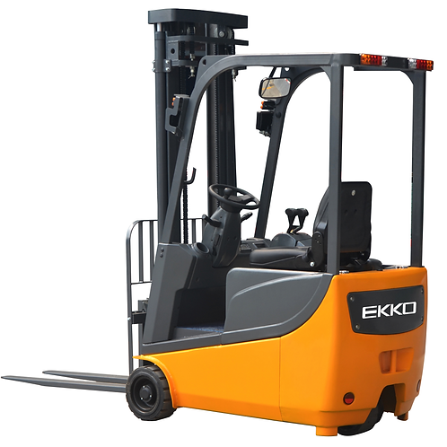 "EKKO EK13A 3 Wheel Electric Forklift, 3300 lb Cap., 138"" Lift Height"