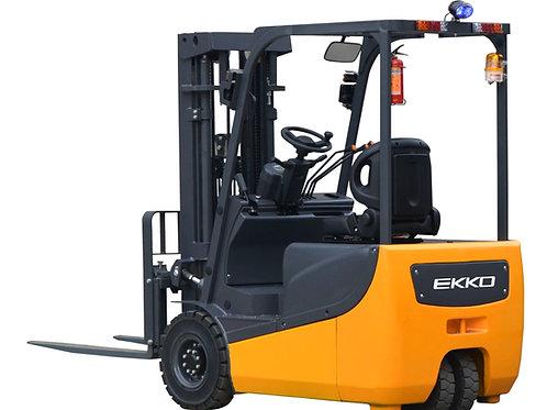 "EKKO EK18A 3 Wheel Electric Forklift, 4000 lb. Cap., 189"" Lift Ht. 48V"