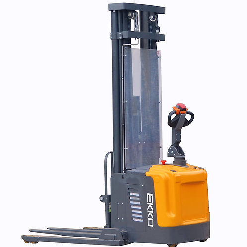 "EKKO EB16EA Full Powered Straddle Stacker 4400 lb Cap., 216"" Height"
