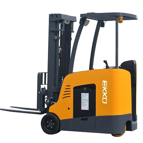 "EKKO EK18RFL Stand-up Rider Forklift, 4000 lb Cap., 189"" Lift Ht. 48V"
