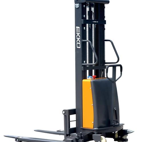 "EKKO EA15B Semi-Electric Straddle Stacker 3300lbs. Cap., 119.4"" Height"