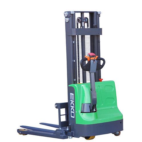 "EKKO EB12E-98Li Lithium Iron Phosphate Straddle Stacker 72""Mast, 98"" Lift"
